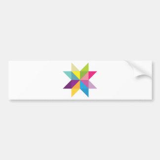 Wellcoda Triangle Star Shape Bright Comet Bumper Sticker