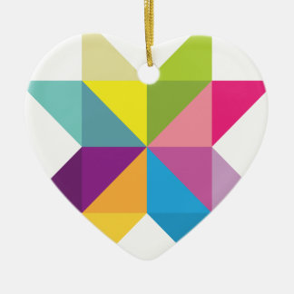 Wellcoda Triangle Star Shape Bright Comet Ceramic Heart Decoration