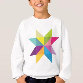 Wellcoda Triangle Star Shape Bright Comet Sweatshirt
