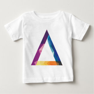 Wellcoda Triangle Summer Vibe Crazy Shape Baby T-Shirt