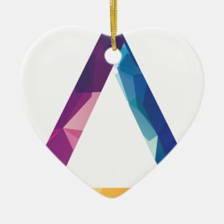 Wellcoda Triangle Summer Vibe Crazy Shape Ceramic Heart Decoration