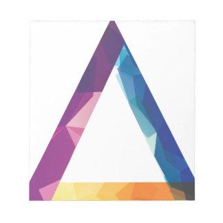 Wellcoda Triangle Summer Vibe Crazy Shape Notepad