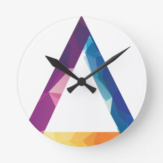 Wellcoda Triangle Summer Vibe Crazy Shape Round Clock