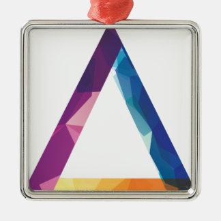 Wellcoda Triangle Summer Vibe Crazy Shape Silver-Colored Square Decoration