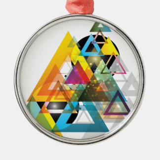 Wellcoda Triangle Sun System World Crazy Christmas Ornament