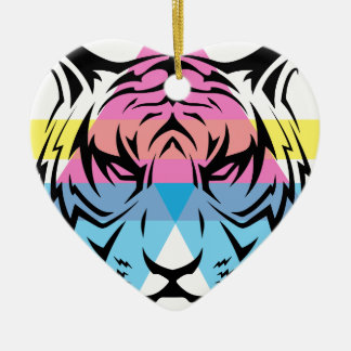 Wellcoda Triangle Tiger Face Wild Animal Christmas Ornament