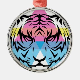Wellcoda Triangle Tiger Face Wild Animal Christmas Ornament