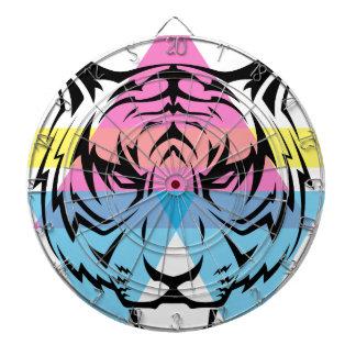 Wellcoda Triangle Tiger Face Wild Animal Dartboard