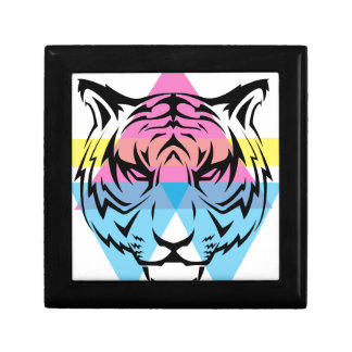 Wellcoda Triangle Tiger Face Wild Animal Gift Box