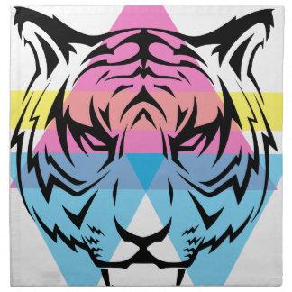 Wellcoda Triangle Tiger Face Wild Animal Napkin
