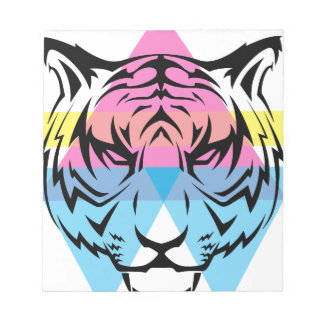 Wellcoda Triangle Tiger Face Wild Animal Notepad
