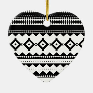 Wellcoda Tribal Style Design Pattern Asia Christmas Ornament