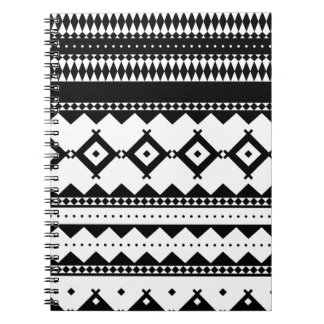 Wellcoda Tribal Style Design Pattern Asia Spiral Notebook
