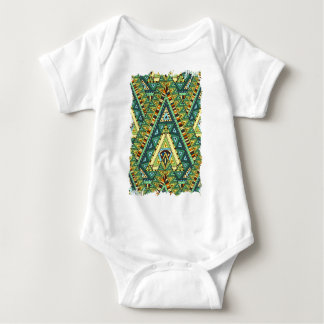 Wellcoda Tribal Style Pattern Crazy Vibe Baby Bodysuit