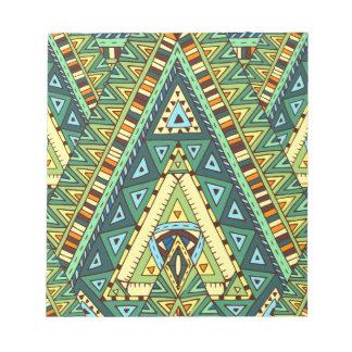 Wellcoda Tribal Style Pattern Crazy Vibe Notepad