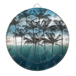 Wellcoda Tropical Palm Tree Paradise Life Dart Board