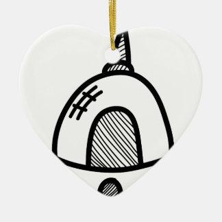 Wellcoda UFO Alien Spaceship Future Flight Ceramic Heart Decoration