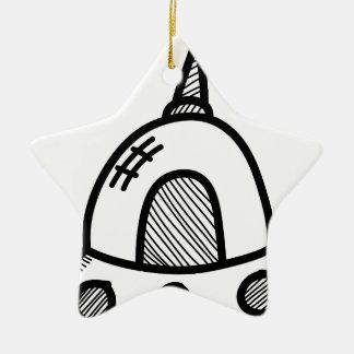 Wellcoda UFO Alien Spaceship Future Flight Ceramic Star Decoration