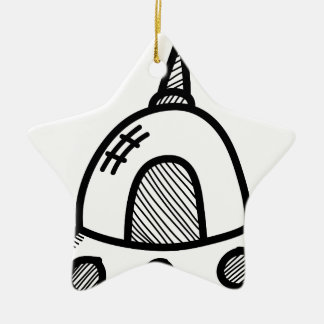 Wellcoda UFO Alien Spaceship Future Flight Christmas Ornament