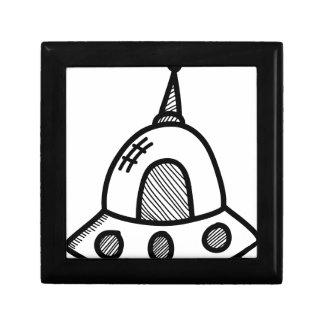 Wellcoda UFO Alien Spaceship Future Flight Gift Box