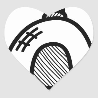 Wellcoda UFO Alien Spaceship Future Flight Heart Sticker