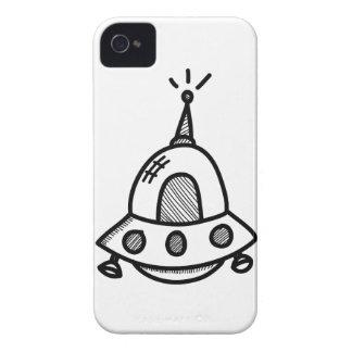 Wellcoda UFO Alien Spaceship Future Flight iPhone 4 Case