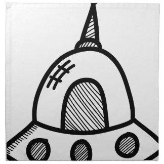 Wellcoda UFO Alien Spaceship Future Flight Napkin