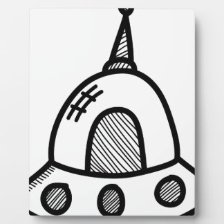 Wellcoda UFO Alien Spaceship Future Flight Plaque