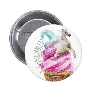 Wellcoda Unicorn Cornetto Fun Ice Cream 6 Cm Round Badge