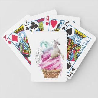 Wellcoda Unicorn Cornetto Fun Ice Cream Bicycle Playing Cards