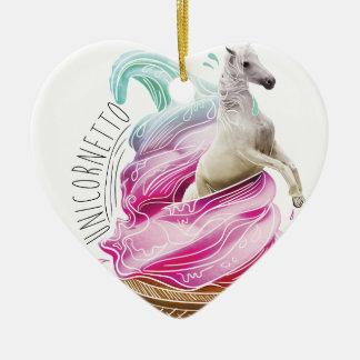 Wellcoda Unicorn Cornetto Fun Ice Cream Christmas Ornament
