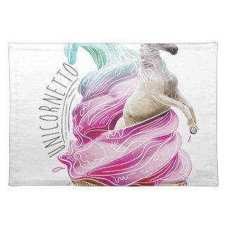 Wellcoda Unicorn Cornetto Fun Ice Cream Placemat