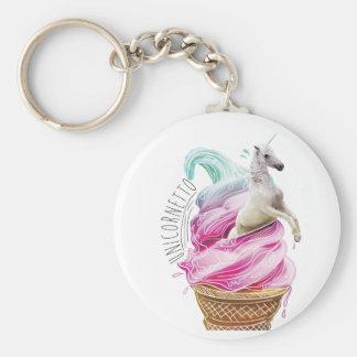 Wellcoda Unicorn Ice Cream Fun Myth Love Key Ring