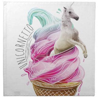 Wellcoda Unicorn Ice Cream Fun Myth Love Napkin