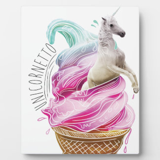 Wellcoda Unicorn Ice Cream Fun Myth Love Plaque