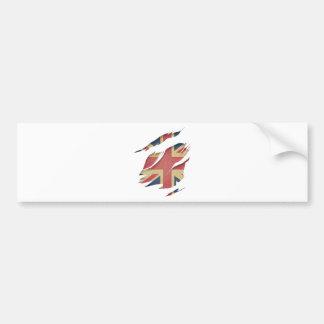 Wellcoda United Kingdom Flag Uk Identity Bumper Sticker