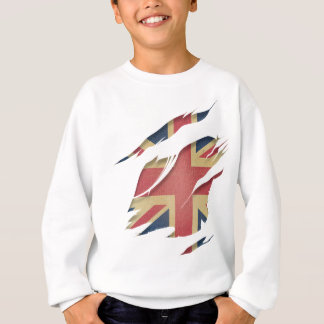 Wellcoda United Kingdom Flag Uk Identity Sweatshirt