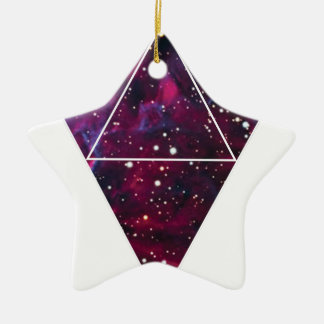 Wellcoda Universe Of Triangles Space Life Ceramic Star Decoration