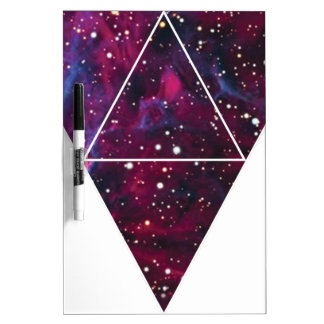 Wellcoda Universe Of Triangles Space Life Dry Erase Board