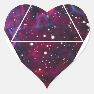 Wellcoda Universe Of Triangles Space Life Heart Sticker