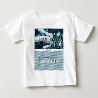Wellcoda Up All Night DJ Mixer Sleep Day Baby T-Shirt