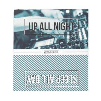 Wellcoda Up All Night DJ Mixer Sleep Day Notepad