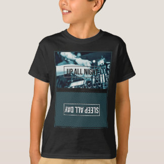 Wellcoda Up All Night DJ Mixer Sleep Day T-Shirt