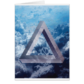 Wellcoda Up In The Clouds Shape Triangle Card