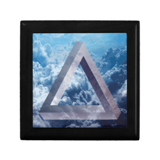 Wellcoda Up In The Clouds Shape Triangle Gift Box