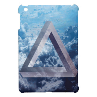 Wellcoda Up In The Clouds Shape Triangle iPad Mini Case