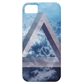 Wellcoda Up In The Clouds Shape Triangle iPhone 5 Covers