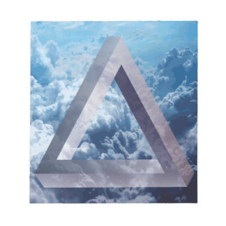 Wellcoda Up In The Clouds Shape Triangle Notepad