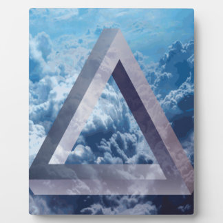 Wellcoda Up In The Clouds Shape Triangle Plaque