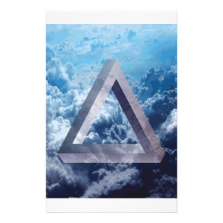 Wellcoda Up In The Clouds Shape Triangle Stationery